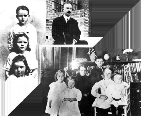 설립자 배유지 목사와 자녀들