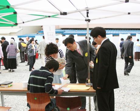 항존직피택 투표장 모습